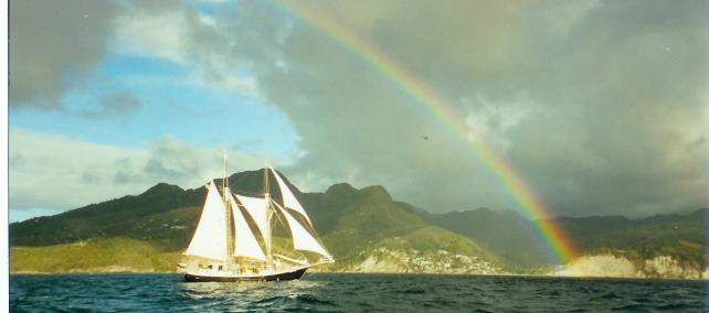 sailing off of St Lucia